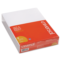 "Universal® Bulk Scratch Pads, 8 1/2"" x 11"", Unruled, 200 Pages (100 Sheets), White, Pack Of 6"