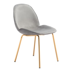 Zuo Modern Siena Dining Chairs, Graphite Gray/Gold, Set Of 2 Chairs