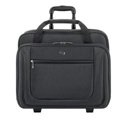 Solo® Rolling Laptop Portfolio, Black