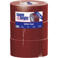 "Tape Logic Gaffers Tape, 3"" x 60 Yd., 11 Mil, Burgundy, Case Of 3 Rolls"