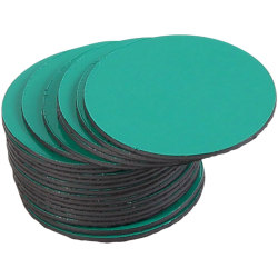 "MasterVision® Magnetic Color Coding Dots, BVCFM1602, 3/4"" Diameter, Round, Green, Vinyl, 20 Per Pack"
