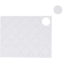 "MasterVision® Magnetic Color Coding Dots, BVCFM1618, 3/4"" Diameter, Round, White, Vinyl, 20 Per Pack"