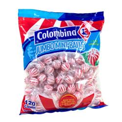 Colombina Jumbo Mint Balls, Peppermint, Approximately 120 Pieces, 3-Lb Bag