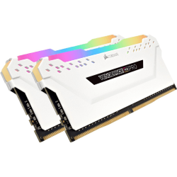 CORSAIR Vengeance RGB PRO - DDR4 - kit - 16 GB: 2 x 8 GB - DIMM 288-pin - 3200 MHz / PC4-25600 - CL16 - 1.35 V - unbuffered - non-ECC - white