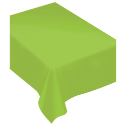 """Amscan Rectangular Fabric Table Covers, 60"""" x 80"""", Kiwi Green, Pack Of 2 Table Covers"""