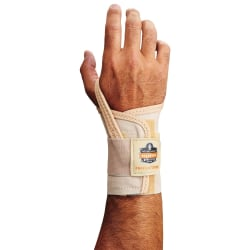 Ergodyne ProFlex 4000 Single-Strap Neoprene Wrist Support, Left, Small, Tan