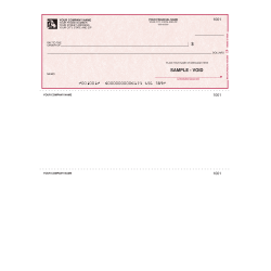 "Custom Laser Multipurpose Voucher Checks With Lines For Quicken® / Quickbooks® / Microsoft®, 8 1/2"" x 11"", Box Of 250"
