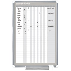 """MasterVision® In/Out Magnetic Dry-Erase Whiteboard, 24""""H x 36""""W, Aluminum Frame With Silver Finish"""