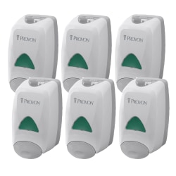 Provon FMX-12 Foam Soap Dispenser - Manual - 1.32 quart Capacity - Key Lock, Soft Push, Wall Mountable - Dove Gray - 6 / Carton