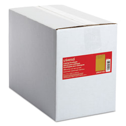"Universal® Catalog Envelopes With Gummed Closure, Center Seam, 24 Lb, 9"" x 12"", Brown Kraft, Box Of 250"