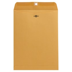 "Universal® Center-Seam Envelopes With Clasp Closure, 32 Lb, #90, 9"" x 12"", Brown Kraft, Box Of 100"