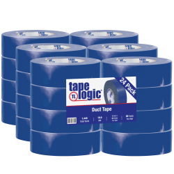 "Tape Logic® Color Duct Tape, 3"" Core, 2"" x 180', Blue, Case Of 24"