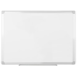 "MasterVision® EasyClean Melamine Dry-Erase Whiteboard, 18"" x 24"", Aluminum Frame With Silver Finish"