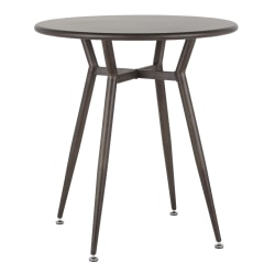 "LumiSource Clara Industrial Dinette Table, 30-1/4""H x 27-3/4""W x 27-3/4""D, Antique Metal"