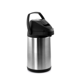 MegaChef 3 L Stainless-Steel Airpot Hot Water Dispenser for Coffee and Tea, Silver/Black