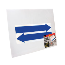 """Cosco® Large Blank Sign With Vinyl Arrows And Stake, 19"""" X 15"""", White"""