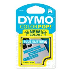 "DYMO® ColorPop Labeler D1 Tape, 1/2"" x 10', White/Blue"