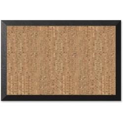"""MasterVision® Kamashi Cork Bulletin Board, 24"""" x 36"""", Wood Frame With Brown Finish"""