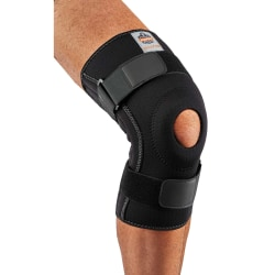 Ergodyne Proflex® Knee Sleeve, 620 With Open Patella/Spiral Stays, Small, Black