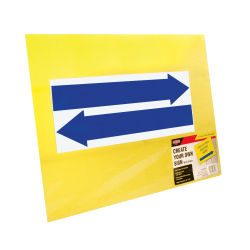 """Cosco® Large Blank Sign With Vinyl Blue Arrows And Stake, 19"""" X 15"""", Yellow"""