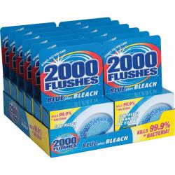 WD-40 2000 Flushes Blue/Bleach Bowl Cleaner Tablets - Concentrate Tablet - 3.50 oz (0.22 lb) - 12 / Carton - Blue