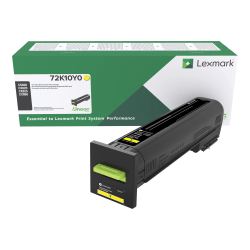 Lexmark™ Unison™ Return Program Toner Cartridge, 72K10Y0, Yellow
