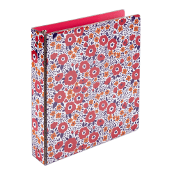 """Office Depot® Brand Fashion Binder, 1"""" Rings, 100% Recycled, Little Flowers"""