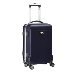 """Denco 2-In-1 Hard Case Rolling Carry-On Luggage, 21""""H x 13""""W x 9""""D, Denver Broncos, Navy"""