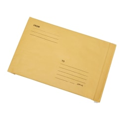 """SKILCRAFT® Sealed Air Jiffy Padded Mailers, 20"""" x 14-1/4"""", Natural Kraft, Pack Of 50 Mailers (AbilityOne 8105-00-281-1169)"""