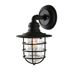 "Kenroy Home Eli 1-Light Small Lantern, 11""H, Black"