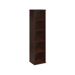 "Bush Business Furniture Components 5 Shelf Bookcase, 18""W, Mocha Cherry, Standard Delivery"