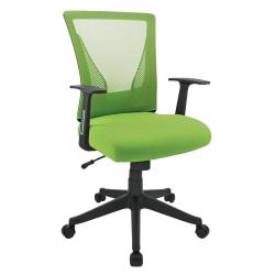 Brenton Studio® Radley Mesh Mid-Back Task Chair, Green/Black