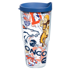 Tervis NFL All-Over Tumbler With Lid, 24 Oz, Denver Broncos