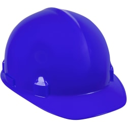 Kimberly-Clark 4-point Ratchet Suspension Hard Hat - Lightweight, Adjustable Ratchet, Impact Absorption - Head Protection - High-density Polyethylene (HDPE) - Blue - 1 Each