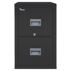 "FireKing® Patriot 31-5/8""D Vertical 2-Drawer Letter-Size File Cabinet, Metal, Black, Dock To Dock Delivery"