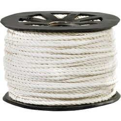 """Office Depot® Brand Twisted Polypropylene Rope, 1,150 Lb, 1/4"""" x 600', White"""