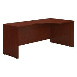 "Bush Business Furniture Components Corner Desk Right Handed 72""W, Mahogany, Standard Delivery"