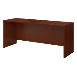 "Bush Business Furniture Components Credenza Desk 72""W x 24""D, Mahogany, Standard Delivery"