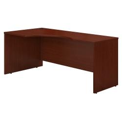 """Bush Business Furniture Components Corner Desk Left Handed 72""""W, Mahogany, Standard Delivery"""