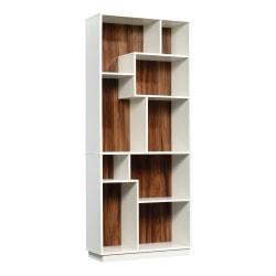 """Sauder® Vista Key 72""""H 9-Shelf Bookcase, Pearl Oak/Blaze Acacia"""