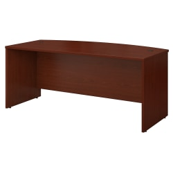 "Bush Business Furniture Components Bow Front Desk, 72""W x 36""D, Mahogany, Standard Delivery"
