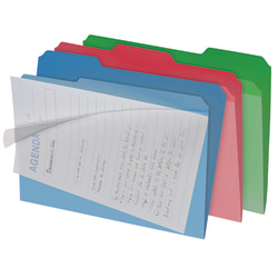 Find It® All-Tab Clearview Interior Folders, Letter Size, Assorted Colors, Pack Of 8