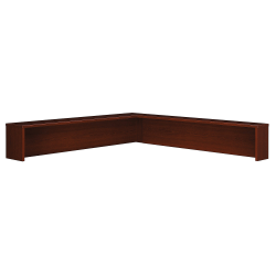 Bush Business Furniture Components Reception L Shelf, Mahogany, Standard Delivery