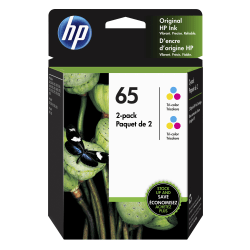 HP 65 Tri-Color Ink Cartridges (6ZA56AN), Pack Of 2 Cartridges