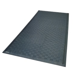 M + A Matting Cushion Station, 4' x 20 1/8', Black