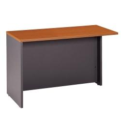 """Bush Business Furniture Components Return Bridge, 48""""W, Auburn Maple/Graphite Gray, Standard Delivery"""