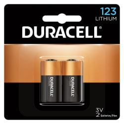 Duracell Photo 3-Volt Lithium 123 Batteries, Pack Of 2