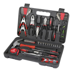 Great Neck Minor Repair Tool Box, 72 Piece, Black