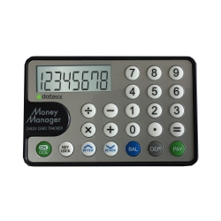 Datexx DC-80 Money Manager Check Card Tracker Calculator