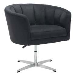 Zuo® Modern Wilshire Occasional Chair, Black/Chrome